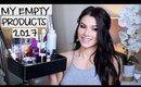 PRODUCT EMPTIES OF 2017!   Makeup Skin Care & Hair Products!