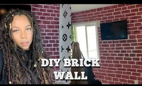 DIY Brick Wall | How to paint walls to look like brick
