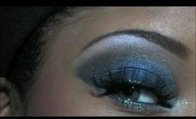 Smokey Shimmery Blue makeup Tutorial