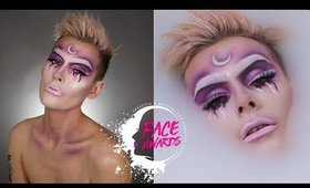 Moon Child Negative Space Makeup Tutorial | NYX Face Awards 2018 | Will Doughty