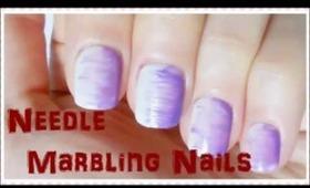 Needle Marbling Nails