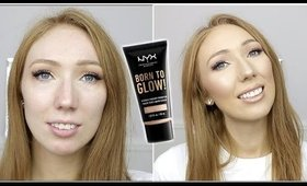 NYX BORN TO GLOW! NATURALLY RADIANT FOUNDATION   First Impression on OILY SKIN!