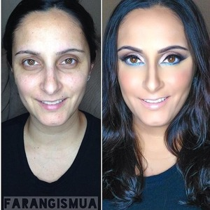 the before and after look.