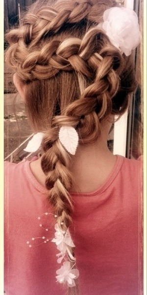 S braid decorated with flowers