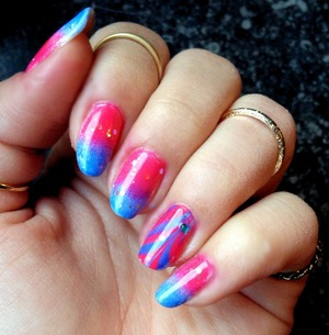 Watermarbel & Ombre Nails