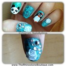 penguin, panda, crackle, crystals and 3d flowers