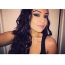 Natural Hair, Pink Lips, Dark Eyeshadow