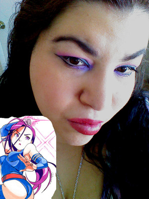 using the colors from a character of xmen named psylocke. i love the colors that were in the photo.