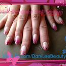 Nail Art - Pink Gradient Nail Design