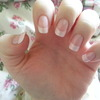 Pearly and soft French Nails