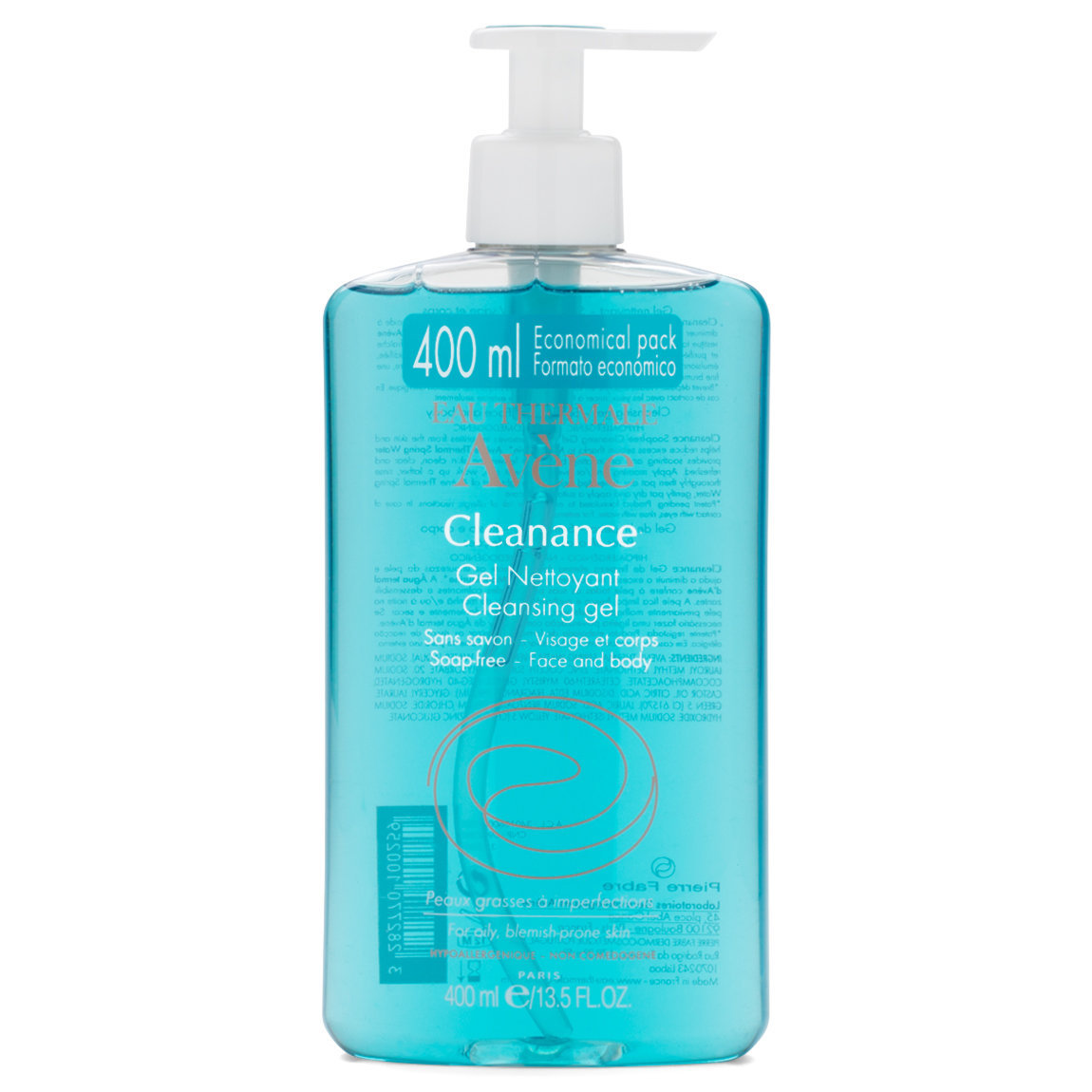 Eau Thermale Avène Cleanance Cleansing Gel 400 ml product swatch.