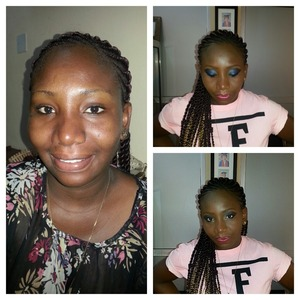 Before and after pix of a photoshoot makeup by Emel makeover