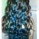 bottom half blue hair