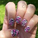 Sponged Zebra Nails