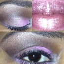 pink and brown smokey eye