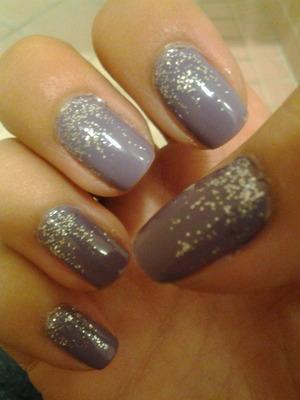 Purple with silver glitter