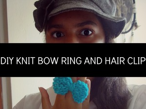 DIY knit bow ring.