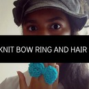 DIY Knit Bow Ring