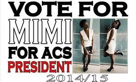 Vote Mimi Okorie for UEA's ACS President 2014-15