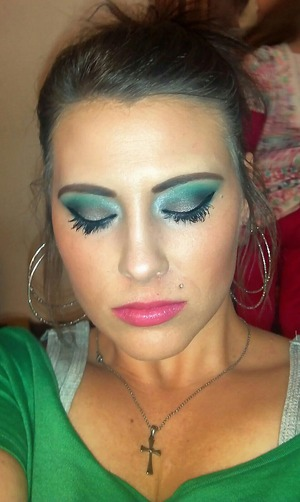 Grey and Green Look