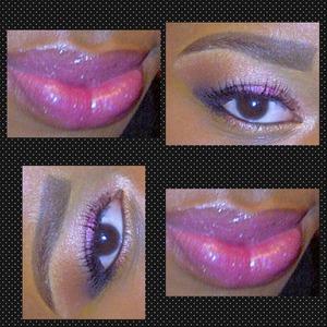 pretty in pink ! eyes. lips !