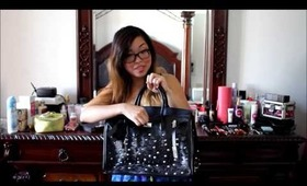Review + Giveaway Lady Gaga Customized Studded Bag Black by BAGinc.com