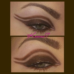 Cut in the crowd!  I'm really trying to step up my cut crease game.  :) I used:  Lorac Pro Palettes 1 &2 NYX Glam Liner Aqua- Luxe in Glam Platinum.  Lorac Behind The Scenes Primer Loreal Lash Out Butterfly mascara in Black. Rimmel Scandaleyes in Black. #Makeup #beauty #cosmetics #platinum #glam #loreal #rimmel #loraccosmetics #propalette #propalette2 #nyxcosmetics #glitter #dark #rock #instamakeup #instabeauty #makeuplook #Beautyshot #fun #Cutcrease #greeneyes #brown #bronze #kroze17