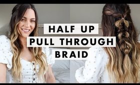 Twisted Half Up Pull Through Braid