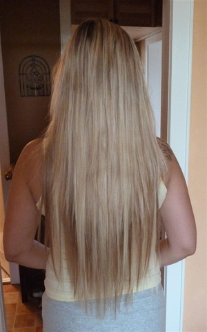 Clip In Extensions 60 cm  - blond & naturblond