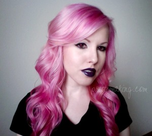 """Lips are a 2:1 mix of OCC Lip Tar in """"Tarred"""" with OCC Lip Tar in """"Belladonna"""""""