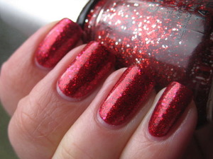 Glitter sandwich with China Glaze's Ruby Pumps and Love Marlyn