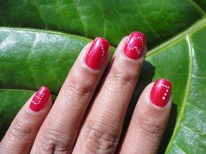 Lazy but loving valentine's day manicure