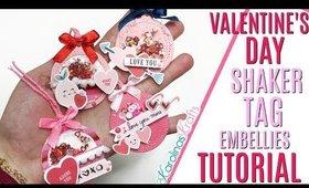 Valentines Day Shaker Tag Embellishments, DAY 6 of 14 Days of Crafty Valentines Day