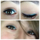 teal and purple eyeliner