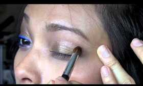 Vibrant Blue Liquid Eyeliner Tutorial