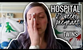 25 WEEKS PREGNANT WITH TWINS BELLY & ADMITTED TO HOSPITAL |  Twin Tuesday