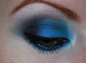 Playing around with a bold blue