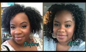 Stretched Twistout on Natural Hair | Shawnte Parks