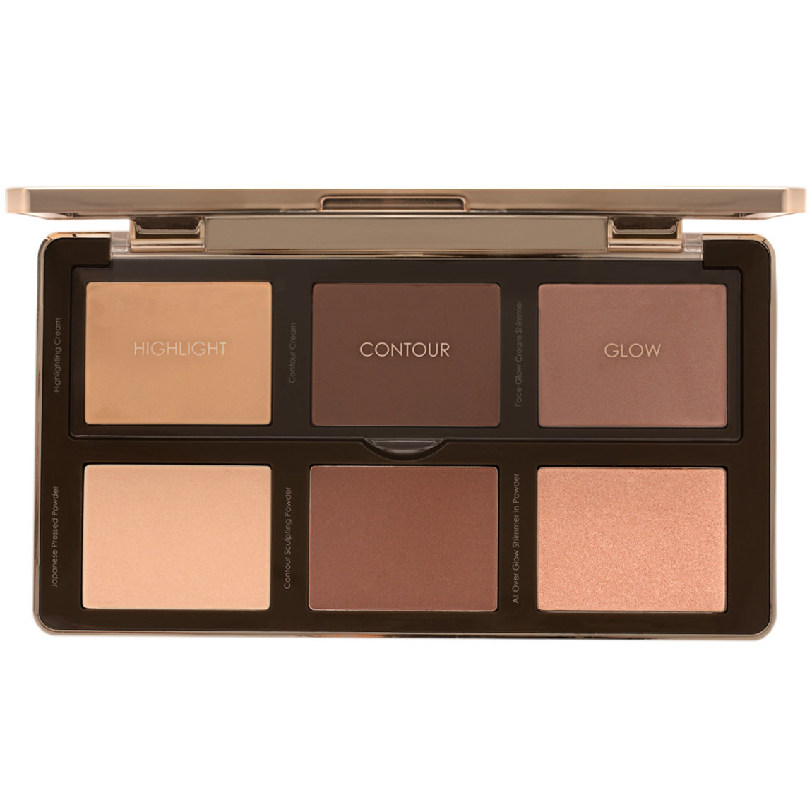 Natasha Denona Sculpt & Glow Palette Light - Medium product smear.