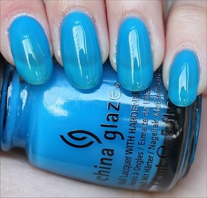 From the Sunsational Collection. Click here to see my in-depth review and more swatches: http://www.swatchandlearn.com/china-glaze-isle-see-you-later-swatches-review/