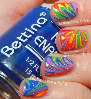A Bettina Rainbow watermarble