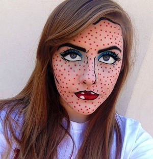 I tried the Comic Book/Pop-Art look today!