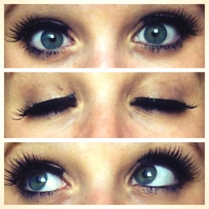 First time doing fake eyelashes on my self & they came out pretty good!