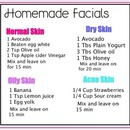DIY facials <3