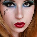Monster High - Frankie Stein inspired make up