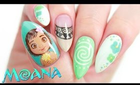Disney's Moana Nail Art Design Tutorial