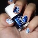 Blue arabesque