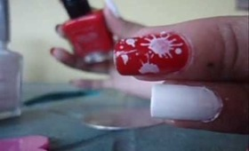 Paint Drop Nail art design