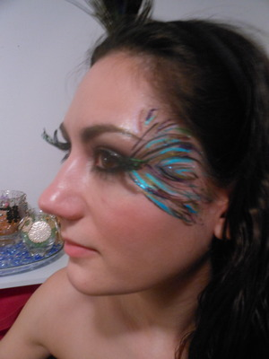 Revised peacock feathers with lashes made by me :) 10/29
