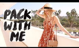 WHAT I PACKED ON VACATION 🌴| Styling Outfits, Choosing Makeup/ Skincare